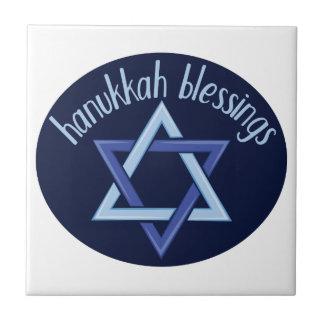 Hanukkah Blessings Tile