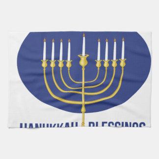 Hanukkah Blessings Towel