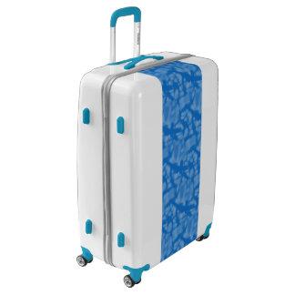 Hanukkah Blue Fractal Style and Yellow Circle Luggage