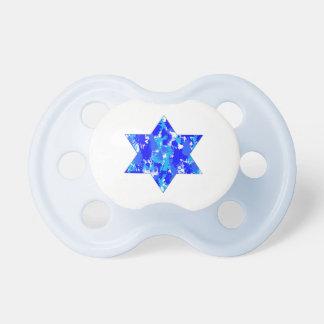 Hanukkah Blue Paint Splatter Jewish Star Pacifiers