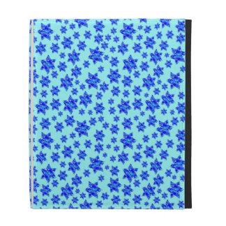 Hanukkah Blue Paint Splatter Jewish Stars iPad Folio Covers