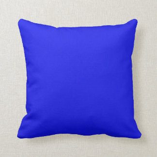 Hanukkah Bright Neon Blue Solid Holiday Background Throw Pillow