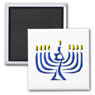 Hanukkah Candles 2 Inch Square Magnet