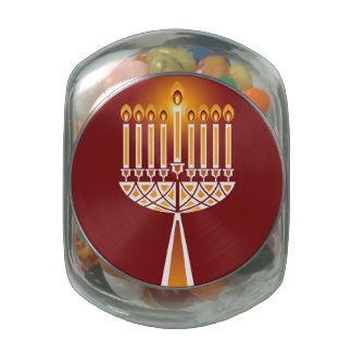 Hanukkah Candles Jelly Belly Candy Jars