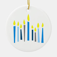 Hanukkah Candles Ceramic Ornament at Zazzle