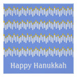 Hanukkah Candles on Blue Posters