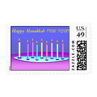 Hanukkah candles postage