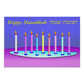 Hanukkah candles poster