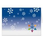 Hanukkah Card - Snowflake Jewish Stars