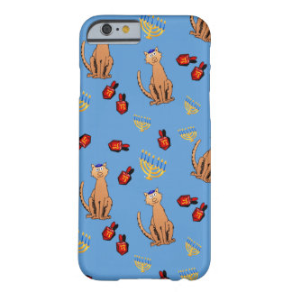 Hanukkah Cat Dreidel Blue Holiday Case Barely There iPhone 6 Case