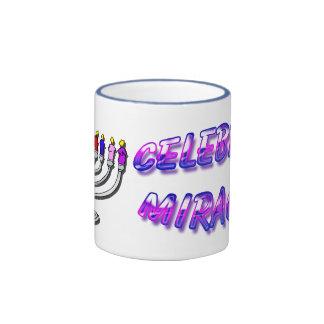 Hanukkah - Celebrate Miracles, Menorah Mug