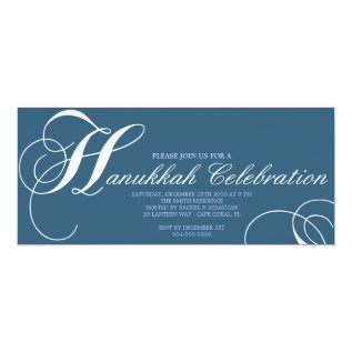 HANUKKAH CELEBRATION INVITATION at Zazzle
