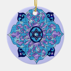 Hanukkah Ceramic Ornament at Zazzle