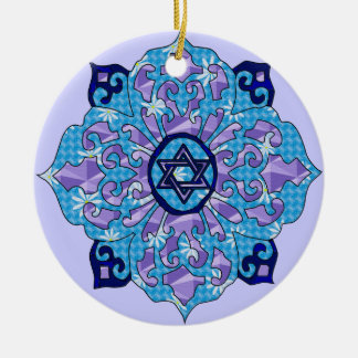 Hanukkah Ceramic Ornament