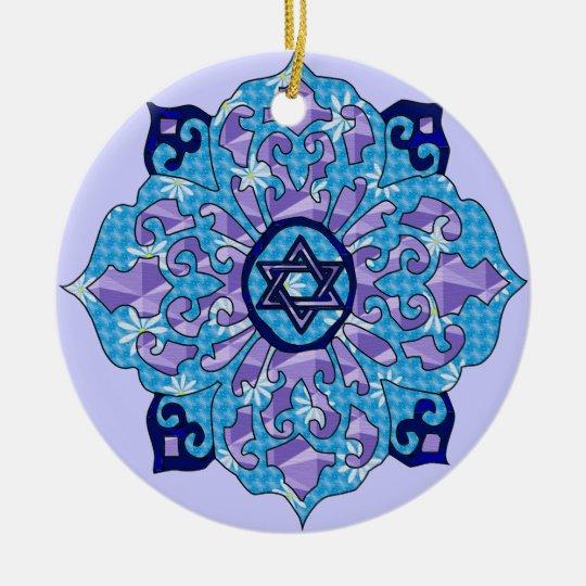 Hanukkah Ceramic Ornament