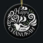 "Hanukkah Chanukah Blackboard Dove Circle Ornament<br><div class=""desc"">Hanukkah &quot;Chanukah Blackboard Dove&quot; Circle Ornament. (2 sided) Personalize by deleting text on front and back of the ornament. Then using your favorite font color, size, and style, type in your own words. Thanks for stopping and shopping by. Much appreciated! Happy Chanukah/Hanukkah! Bring a lot more holiday cheer to your...</div>"