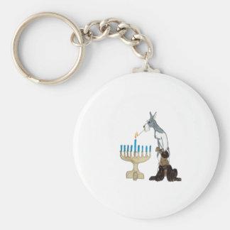 Hanukkah - Chanukah card Basic Round Button Keychain