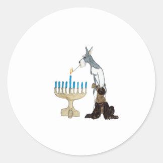 Hanukkah - Chanukah card Classic Round Sticker