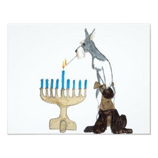 """Hanukkah - Chanukah card 4.25"""" X 5.5"""" Invitation Card"""