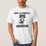 "Hanukkah Chanukah Funny CAT t-shirts, Cats T-Shirt<br><div class=""desc"">HAVE A PURRFECT HANUKKAH t-shirts,  sweatshirts and hoodies. Truly the PURRFECT Hanukkah shirt!</div>"