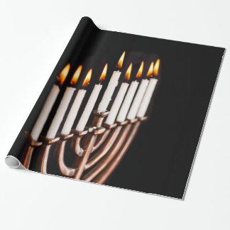Hanukkah Chanukah Hanukah Hannukah Burning Menorah Gift Wrapping Paper