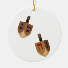 Hanukkah Chanukah Hanukah Hannukah Dreidels Ceramic Ornament at Zazzle
