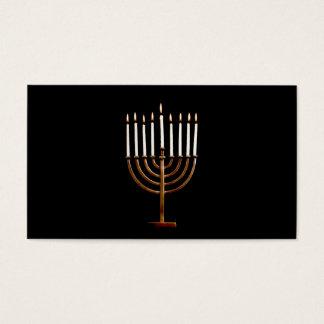 Hanukkah Chanukah Hanukah Hannukah Menorah Candles Business Card