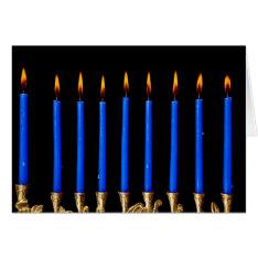 Hanukkah Chanukah Hanukah Hannukah Menorah Candles Card at Zazzle