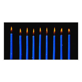 Hanukkah Chanukah Hanukah Hannukah Menorah Candles Custom Photo Card