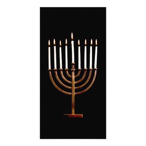 Hanukkah Chanukah Hanukah Hannukah Menorah Candles Photo Cards