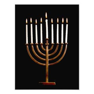 Hanukkah Chanukah Hanukah Hannukah Menorah Candles Photo Print