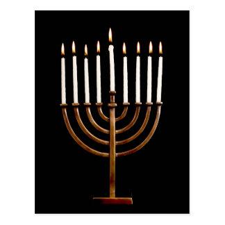 Hanukkah Chanukah Hanukah Hannukah Menorah Candles Postcard