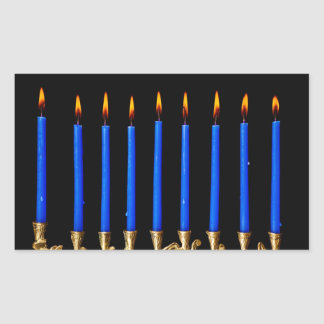Hanukkah Chanukah Hanukah Hannukah Menorah Candles Rectangular Sticker