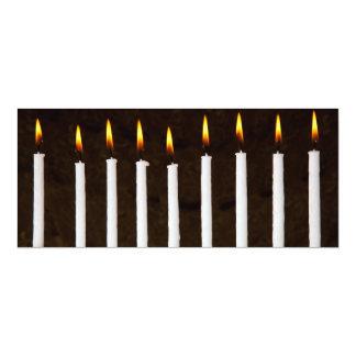 Hanukkah Chanukah Hanukah Menorah Burning Candles Card