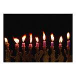 Hanukkah Chanukah Hanukah Menorah Burning Candles Personalized Announcements