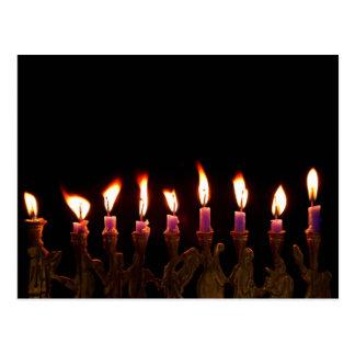 Hanukkah Chanukah Hanukah Menorah Burning Candles Postcards