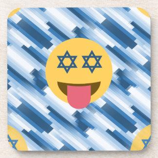 hanukkah chanukkah emoji coaster