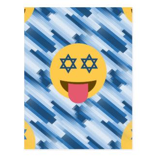 hanukkah chanukkah emoji postcard