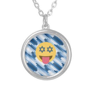 hanukkah chanukkah emoji silver plated necklace