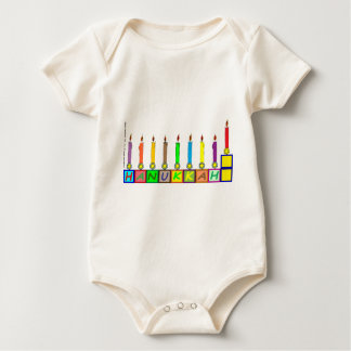 Hanukkah Children's blocks menorah Baby Bodysuit