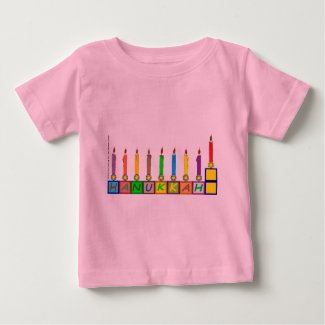 Hanukkah Children's blocks menorah Baby T-Shirt