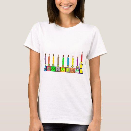 Hanukkah Children's blocks menorah T-Shirt