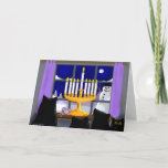 "Hanukkah christmas card<br><div class=""desc"">Celebrate Hanukkah while showing your love of black cats.</div>"