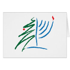 Hanukkah/christmas Card at Zazzle