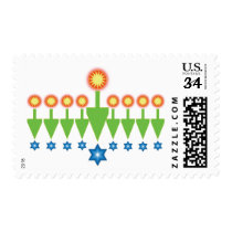Hanukkah Christmas Chrismukkah Postcard Stamps