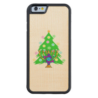 Hanukkah Christmas Interfaith Carved® Maple iPhone 6 Bumper