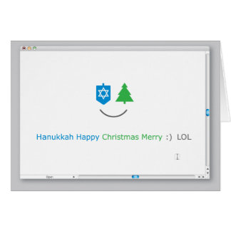 Hanukkah/Christmas LOL Card
