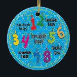 "Hanukkah Circle Ornament<br><div class=""desc"">Hanukkah Circle Ornament.</div>"