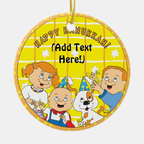 Hanukkah Circle Ornament