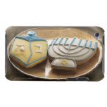 Hanukkah cookies on plate, elevated view iPod touch covers